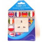 European Travel Adaptor 3 Pin - 2 pin