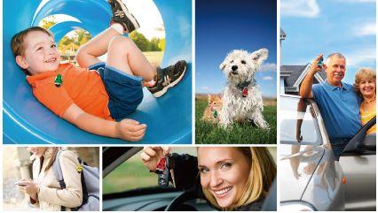 Guardian Angel Radio Monitors on Child, Keys, Pets