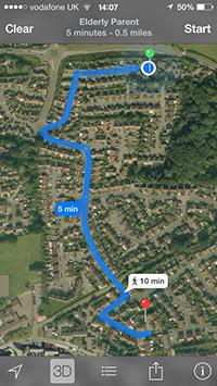 Dementia-GPS-Tracker-App-TY107-Navigation