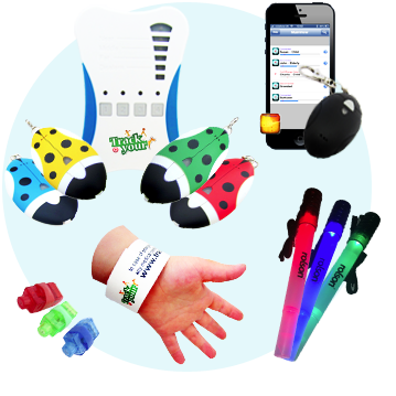 BLE Bluetooth Tags Radio Trackers ID Wristbands LED Lights