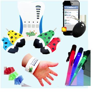BLE Bluetooth Tags Radio Trackers ID Wristbands LED Lights