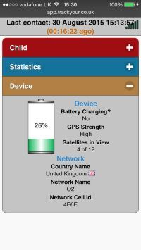 Track-My-Child-GPS-Tracker-Web-Interface-TY013-Device-Status